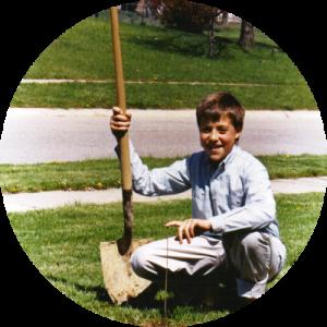Mark Planting a Tree